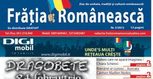 """Intervista in lingua rumena sul giornale """"Fratia Romaneasca"""""""